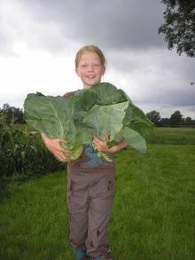 meisje met groente